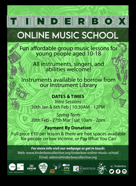NEWS ** Tinderbox Collective Online Music School **